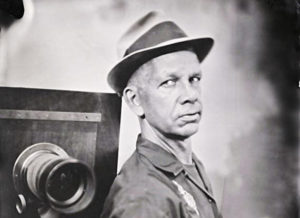 Modern tintype photography